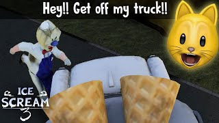 I GOT ON TOP OF ROD'S TRUCK!! | Ice Scream 3 Glitches