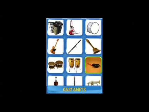 Best iPad Apps For Kids: Musical Flash Cards - Music Instruments, Images Sounds-Kids Place