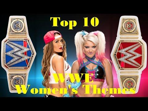 Top 10 WWE Women themes (Dec 24 2016)