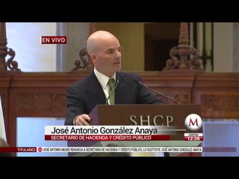 Antonio González Anaya da mensaje como nuevo Secretario de Hacienda