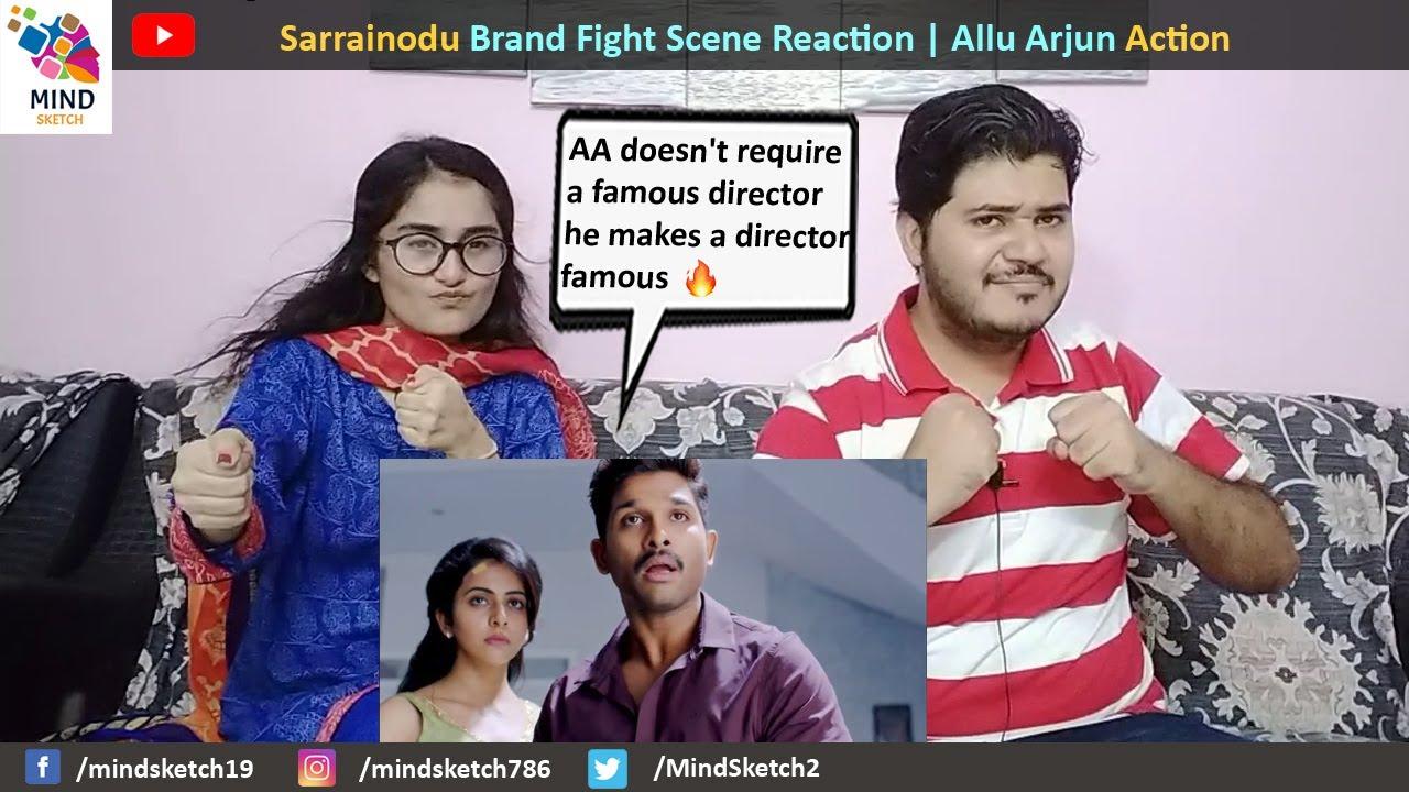 Sarrainodu Brand Fight Scene Reaction   Allu Arjun Action Scenes Reaction   Sarrainodu Action Scene