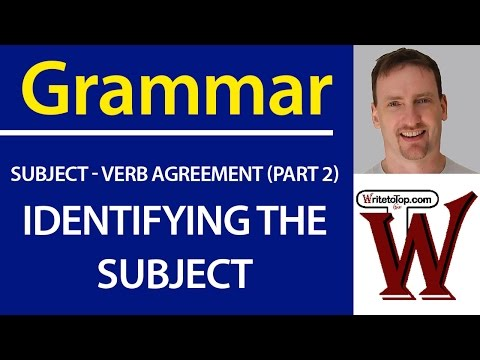 IELTS TOEFL Grammar - Identifying the Subject