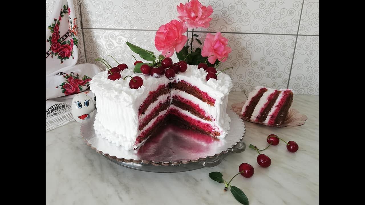 Sladoled torta sa VIŠNJAMA i kiselom pavlakom / kremasti voćni užitak - Kuhinja Sunčane Staze