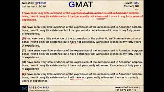 DAILY DOSE 79 | GMAT QUESTIONS | MISSION MBA