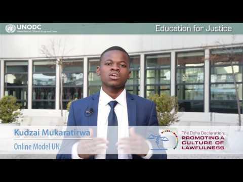 Education for Justice: Kudzai Mukaratirwa, Online Model United Nations