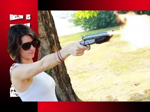 Sawed-off Shotgun ZOMBIE KILL in SUPER SLOWMOTION!!!