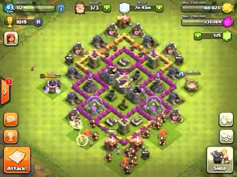 Best town hall level 6 defense strategy quot clash of clans quot youtube