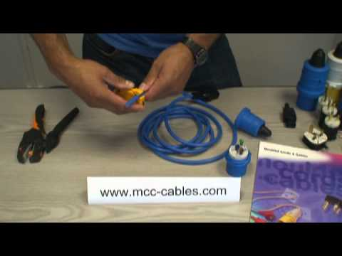 moulded cords cables ltd how to wire a stk325 2 240v 16a 2p e rh youtube com Trailer Connector Wiring Diagram 3 Prong Plug Wiring Diagram