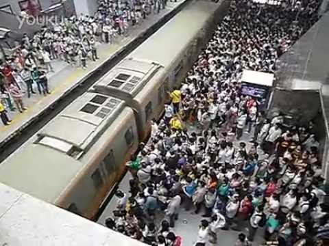 Beijing Subway, Line 13, morning rush hour - just a little crowded