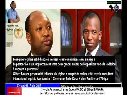 Gilbert BAWARA et  Yves Ekue AMAIZO, invités de Sylvain Amos,  débattent sur les réformes politiques