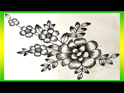 Flower Design With Pencil Shading YouTube