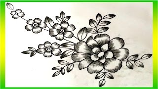 Flower Design with Pencil Shading