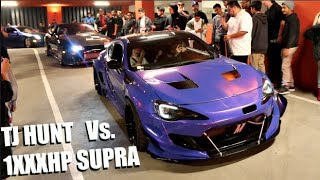 tj hunt vs 800hp ak47 supra shutting down huge la car meet