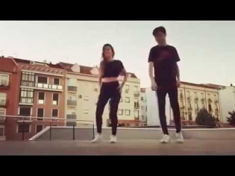 Pareja bailando shuffle