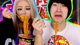 We Try the Fire Noodle Spicy Korean Ramen Challenge