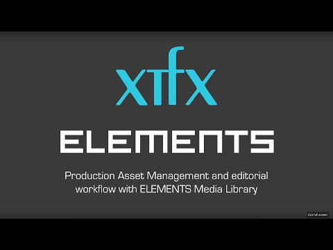 Production Asset Management with Elements