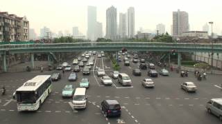中国上海 朝の風景 (6) 逝江北路海寧路~海寧路~西蔵北路 (15-Aug-2011)