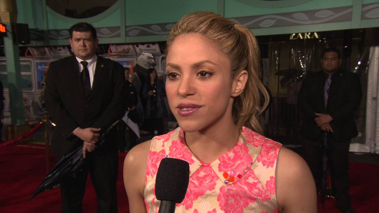 Zootopia Shakira Gazelle Red Carpet Movie Premiere Interview Youtube