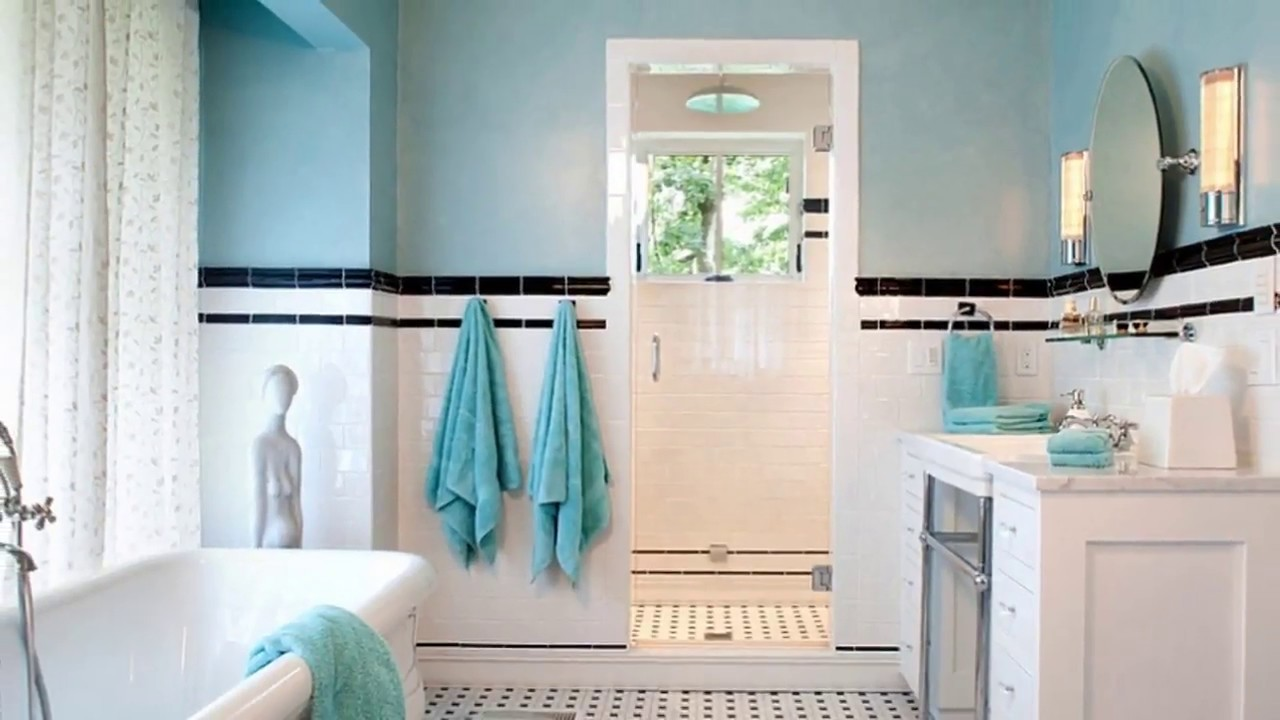 Turquoise Bathroom At Home Decorating Ideas