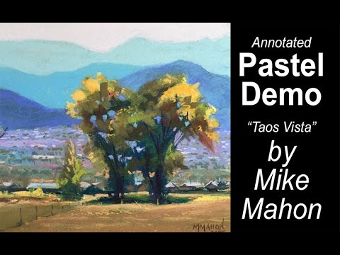 Soft Pastel Landscape with Teaching Comments (workshops, classes)