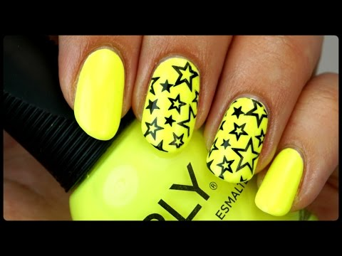 Neon Yellow Star Nails | CCPWM (Chit Chat Polish With Me)