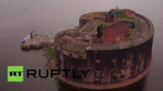 Russia: Drone captures ghostly abandoned 'Plague fortress' from Tsar Alexander I era