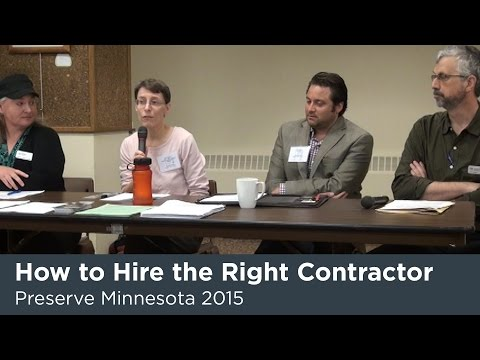 Preserve MN 2015: How to Hire the Right Contractor