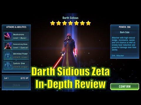 Star Wars Galaxy of Heroes: Darth Sidious Zeta In-Depth Review
