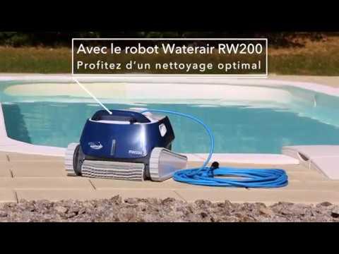 Robot nettoyeur rw200 piscines waterair youtube for Robot piscine waterair
