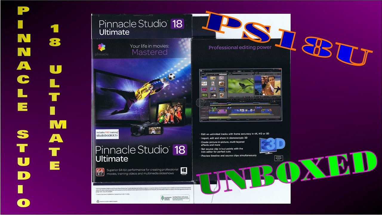 PINNACLE STUDIO 18 ULTIMATE...UNBOXED & PACKAGE CONTENT - YouTube