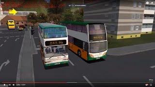 omsi 2 tour (936) nwfb 91 (partial) 中環碼頭 - 鴨脷洲邨 (只由 薄扶林 置富 開始)   @  Alexander Dennis E50D 12m