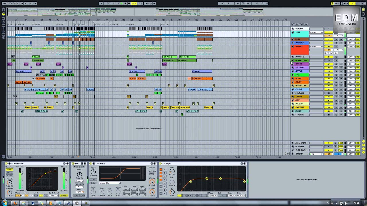 EDM Templates FREE Drum Bass Ableton Template YouTube - Edm template