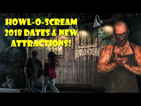 Busch Gardens Tampa Howl-O-Scream Dates & New Attractions 2018!