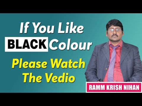 BLACK COLOUR || What Does Your Favorite Color Say About You? || According to Astronumerology