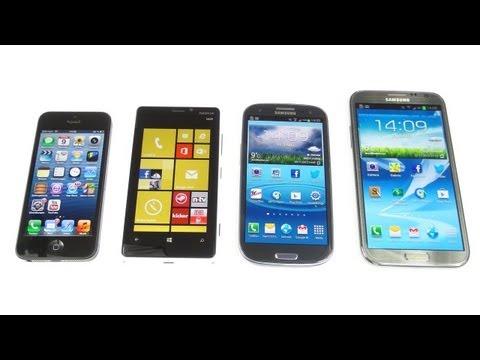Nokia Lumia 920 vs. Apple iPhone 5 vs Samsung Galaxy S3 & Note 2: Benchmark |  SwagTab