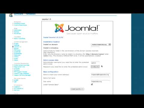 How To Build A Website In Joomla. Part 1.  Create A Subdomain And Install Joomla.