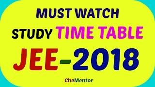 time management for jee mains