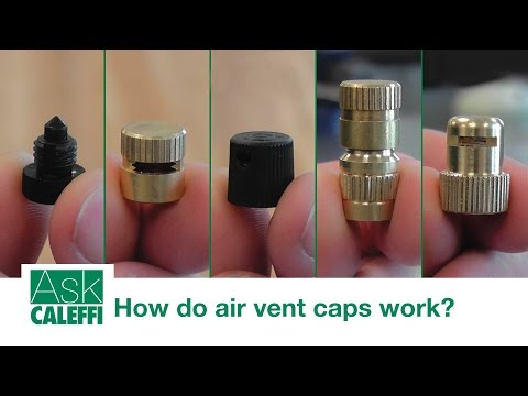 How do air vent caps work?