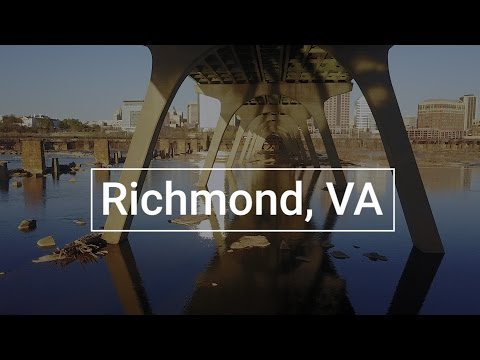 Drone's Eye View of the Richmond, VA Riverfront