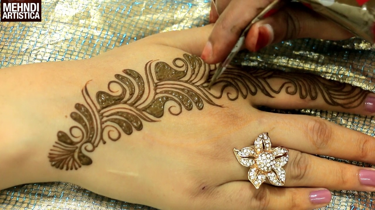 Easy Simple Beautiful Unique Arabic Bel Mehndi Designs Best Mehndi Design For Beginners Artistica