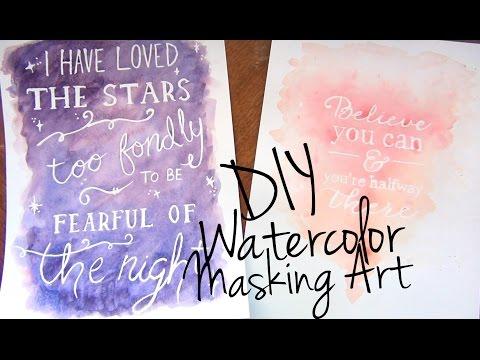 Watercolor Masking Art ♥ DIY Décor