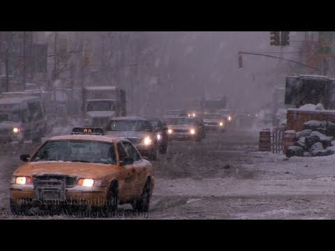 NYC Snow Storm w/High Winds (Manhattan, NY)- March 2nd, 2009