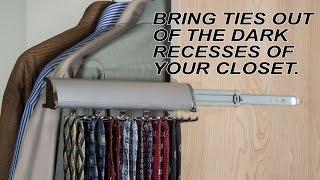 All Metal Closet Organizer | Hafele Tie Rack With Full Extension Slide