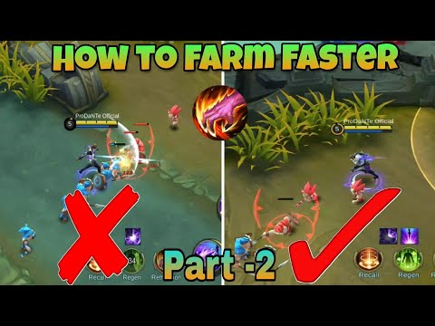How To Farm Faster   Farming Tips And Tricks Part 2   Mobile Legends