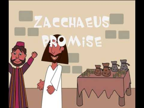 Sad Zacchaeus transformed by Jesus