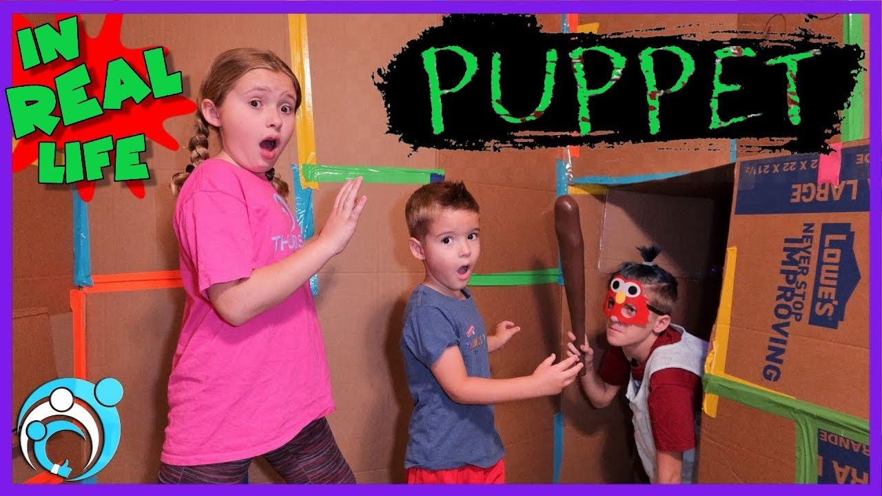 Roblox PUPPET In Real Life!! Chapter 2 Box Fort JAIL | Thumbs Up Family