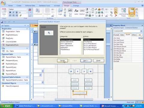 16)  MS Access & VBA Bangla Tutorial::How to Create Report by Report Design in MS Access