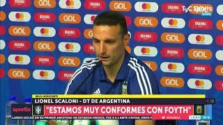 Brasil-Argentina: Scaloni habló de la influencia de Messi en la Selección