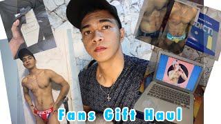 Fans Gift Haul , Sinukat ko ung Jockstrap Brief 😂 ,