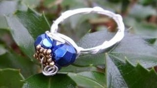 Pretty Wire Wrapped Ring Tutorial